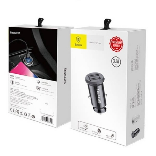 Baseus Car Charger Grain 3.1A Black