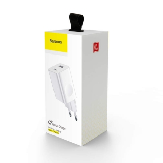 Baseus Travel Charger Quick Charger White EU