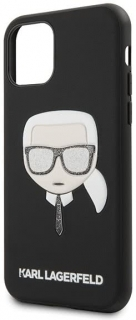 Karl Lagerfeld Iphone 11 Pro Black Iconic Embossed & Glitter