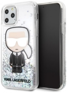 Karl Lagerfled Iphone 11 PRO Hardcase Glitter Iridescent Iconic