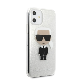 Karl Lagerfeld Glitter Iconic iPhone 11 Silver