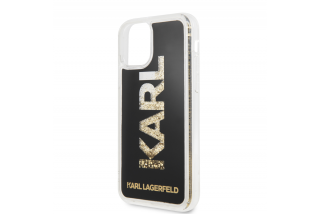 Karl Lagerfeld TPU Glitter Kryt iPhone 11 Black
