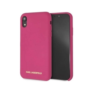 Karl Lagerfeld Silicone Case pro Apple iPhone XR - fuchsiový