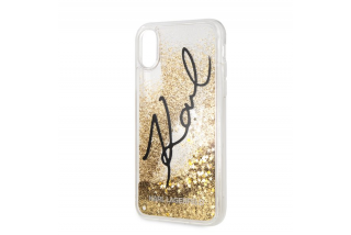 Karl Lagerfeld Iphone XRSignature TPU Case Glitter Star Gold